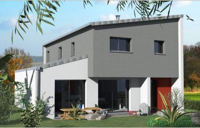 Construction Maison 1 mono-pente zinc