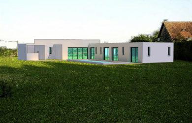 Maison toiture terrasse de plain-pied près de Tours (37)