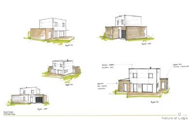 Maison bois écologique à Rouillon (près du Mans – 72)